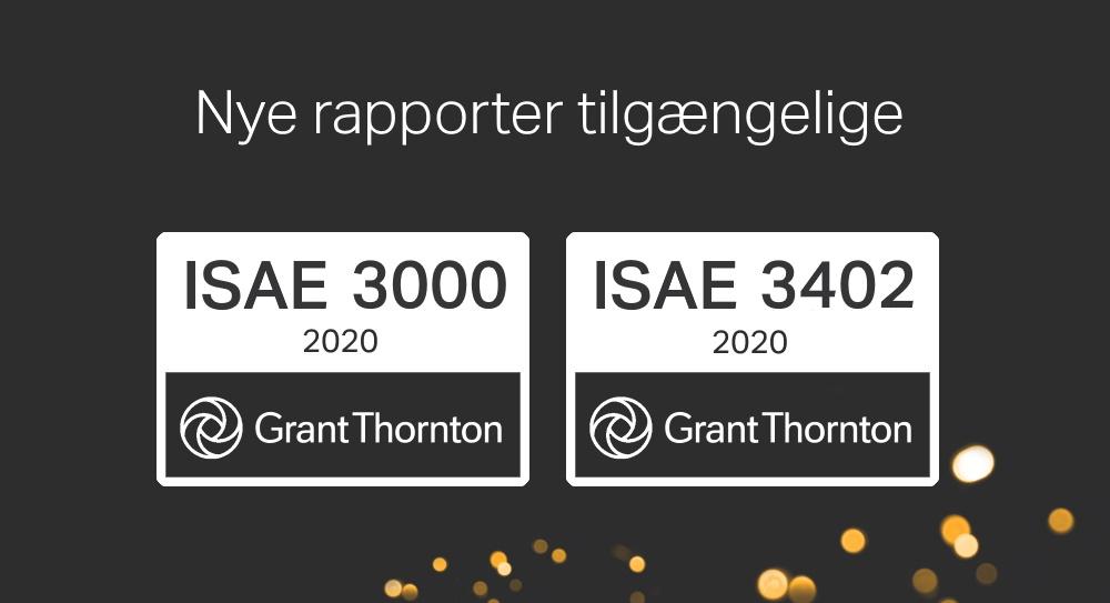 Nye rapporter: ISAE 3000 & 3402 type 2