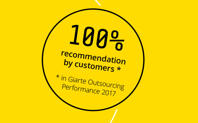 Giarte's Outsourcing Performance 2017: 100% score voor Sentia