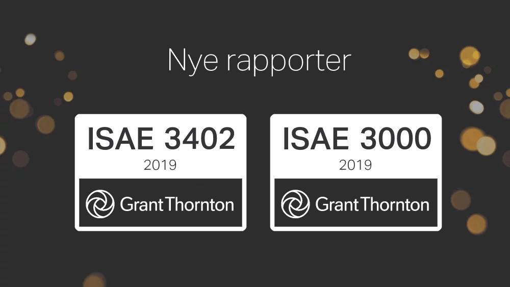 Nye rapporter tilgængelige for ISAE 3000 & 3402 type 2